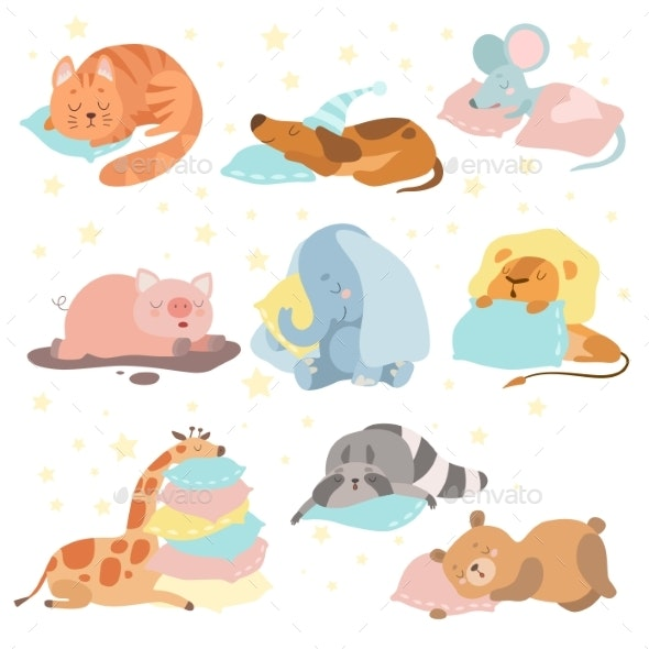 Animals Sleeping Set - Animals Characters