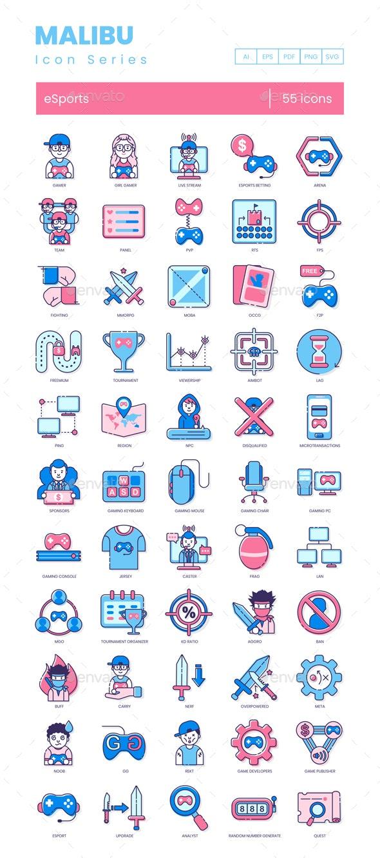 Esports Icons - Malibu Series - Technology Icons