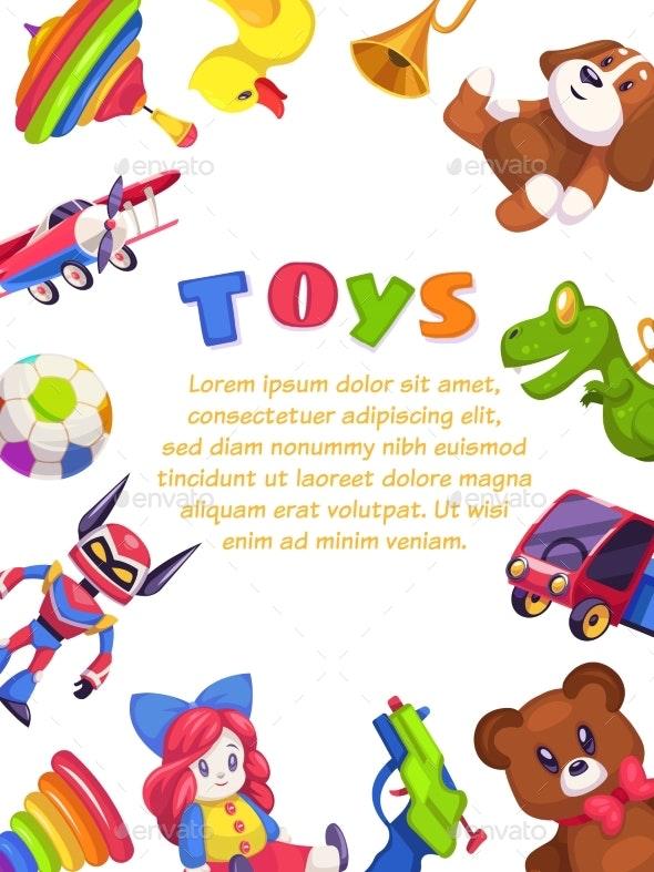 Kids Toys Poster - Backgrounds Decorative
