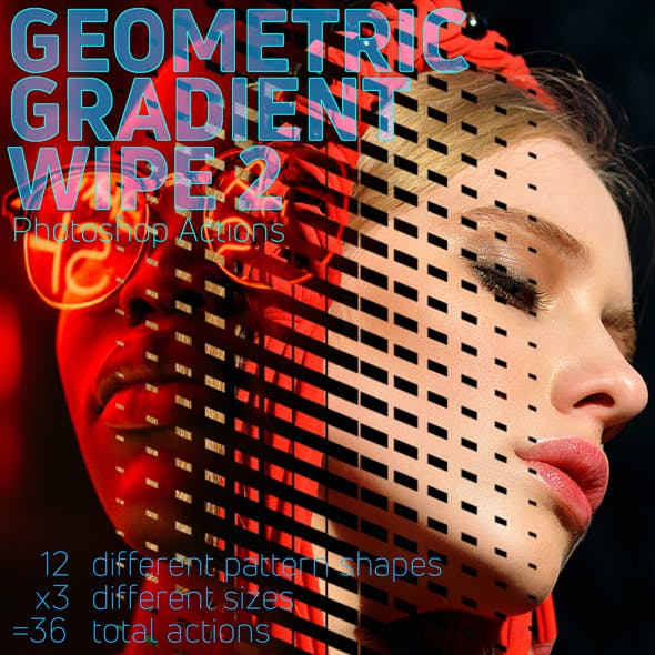 Geometric Gradient Wipe 2 Actions