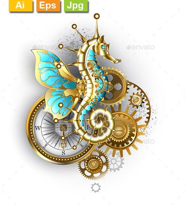 Mechanical Seahorse - Decorative Symbols Decorative