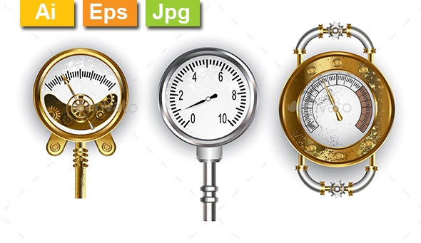 Three Manometers - Man-made Objects Objects
