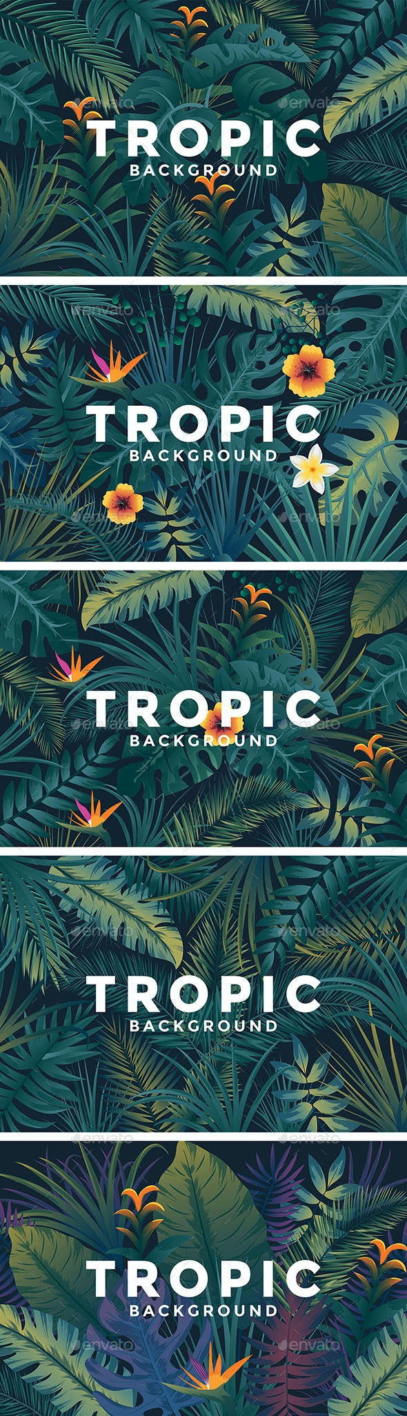 Various Tropical Backgrounds - Backgrounds Decorative
