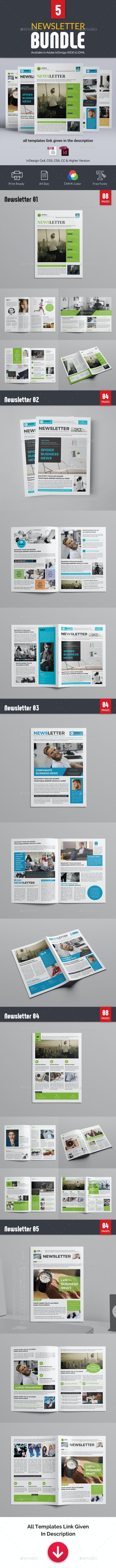 Newsletter Bundle - Newsletters Print Templates