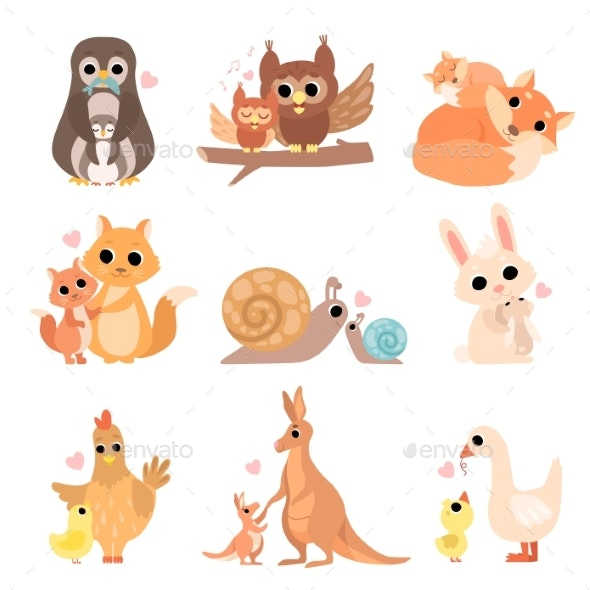 Animal Families Set - Animals Characters