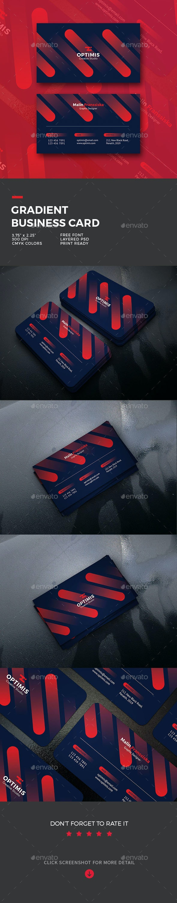 Gradient Business Card - Business Cards Print Templates