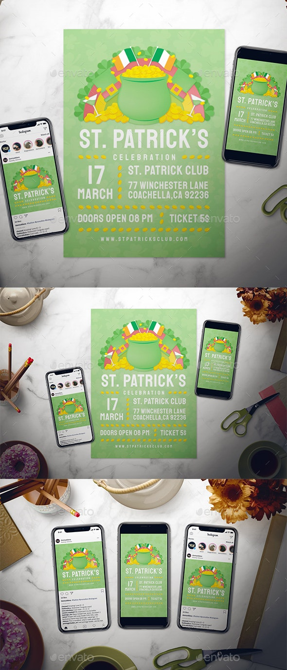 St. Patrick's Day Flyer Set - Holidays Events