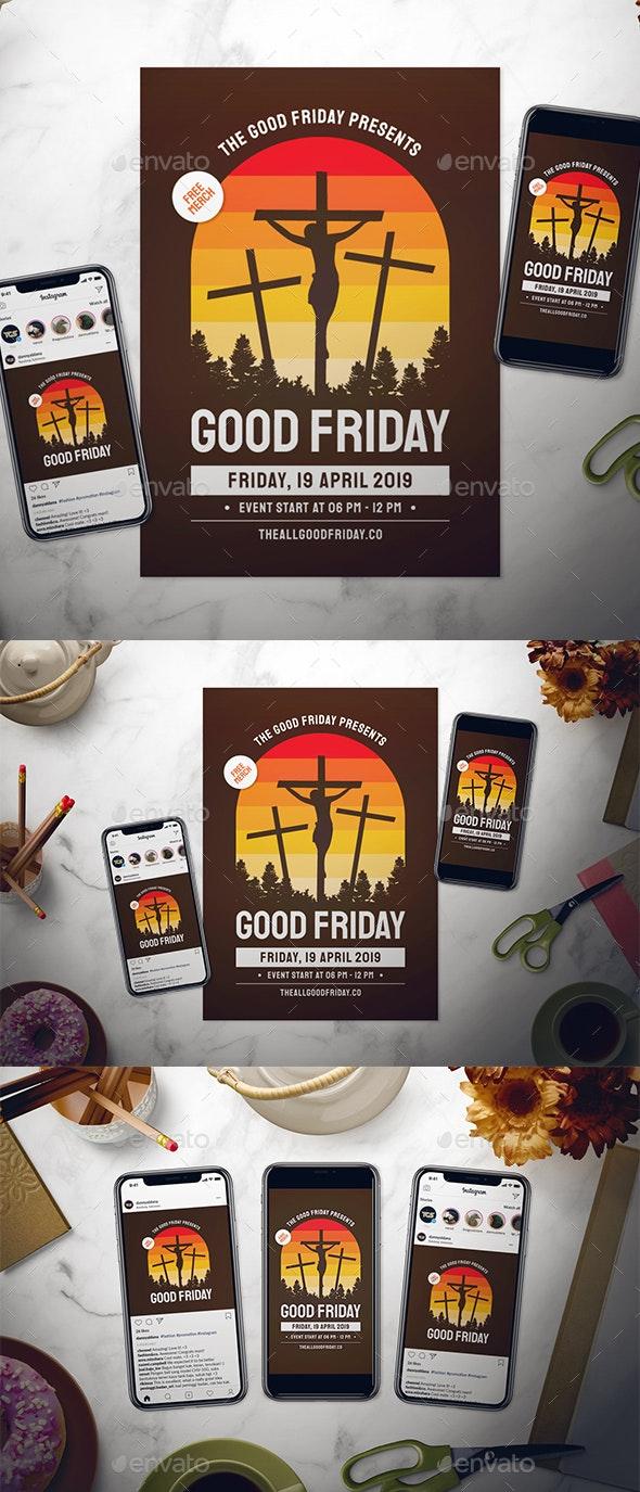 Good Friday Flyer Set - Events Flyers