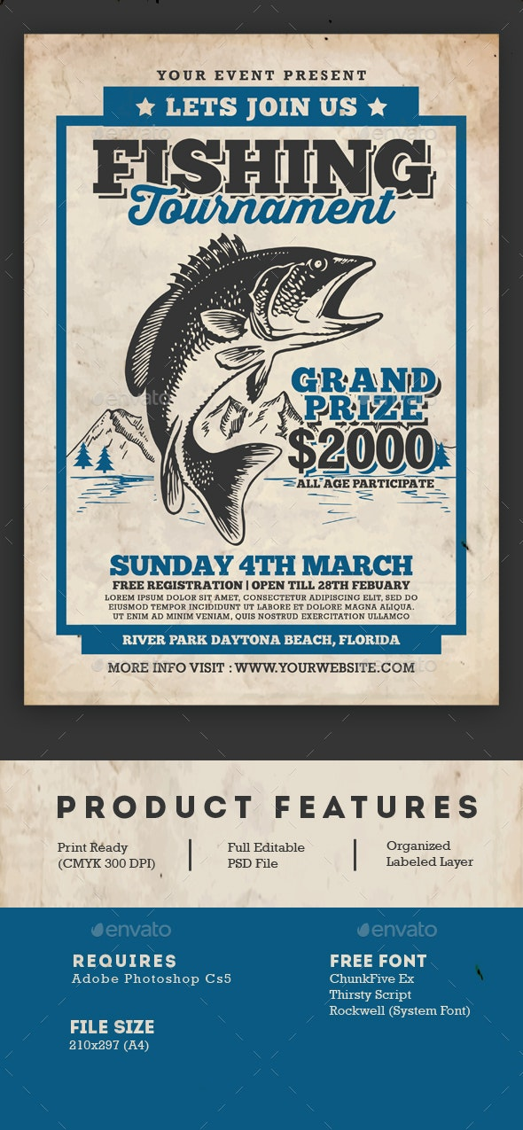 Fishing Tournament Flyer - Events Flyers