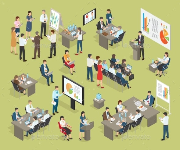 Business Coaching Vector Collection in Office - Concepts Business