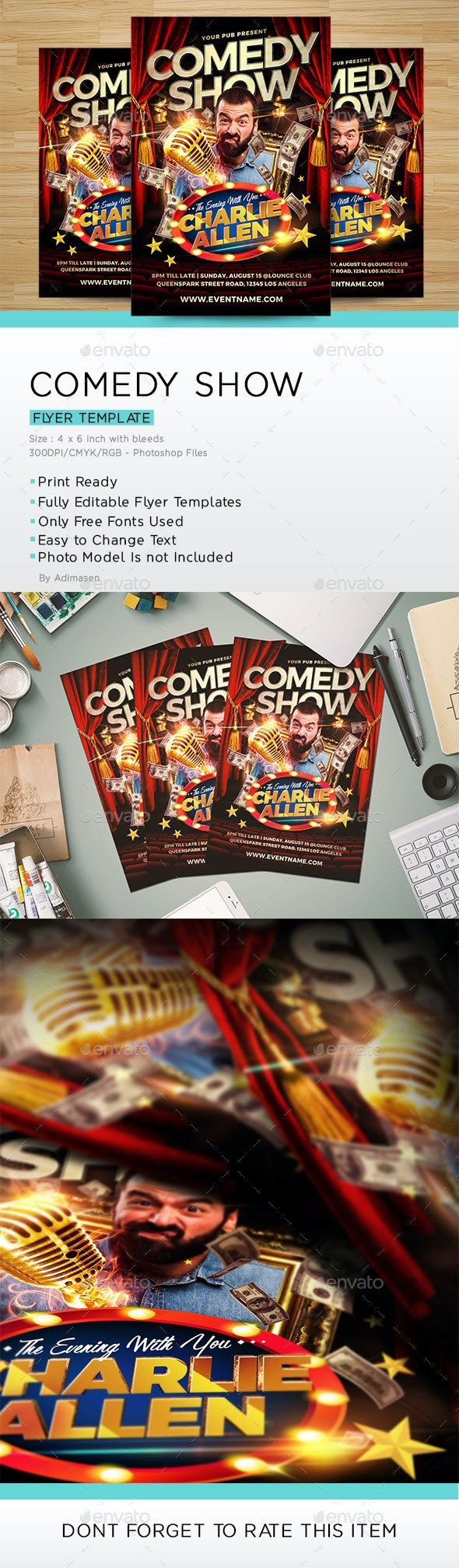 Comedy Show Flyer - Miscellaneous Events