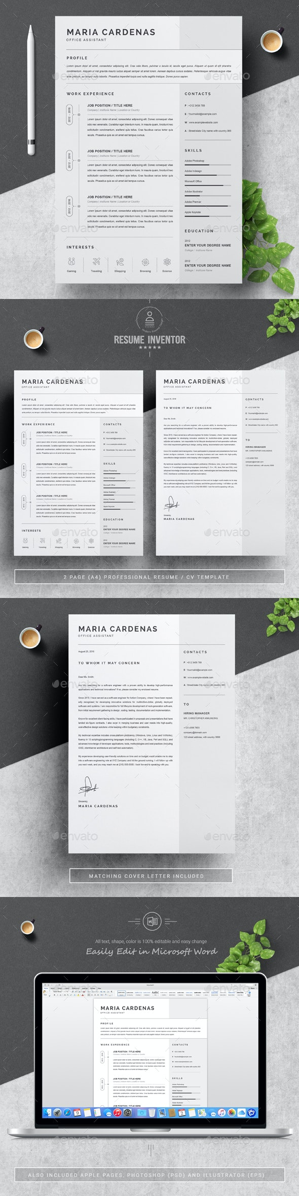 One Page Resume - Resumes Stationery