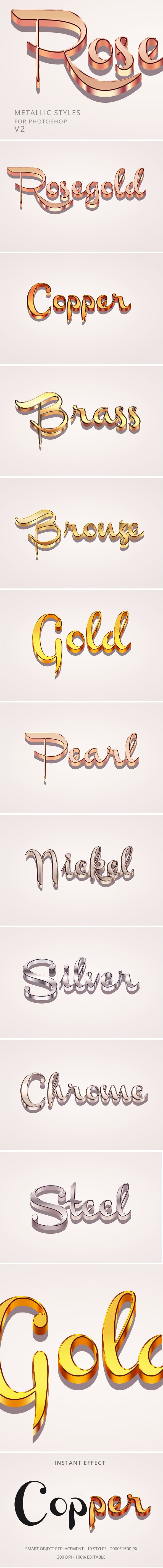 Metal Text Effects - Text Effects Actions