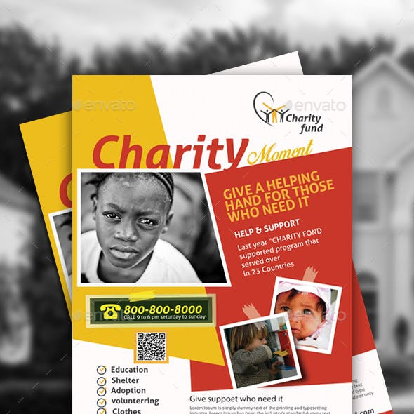 Charity Event Flyer template