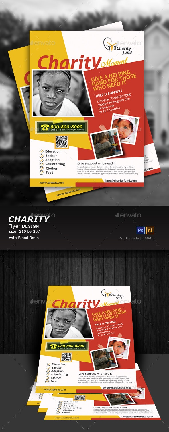 Charity Event Flyer template - Flyers Print Templates
