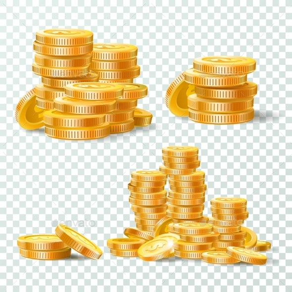 Stack of Gold Coins - Concepts Business