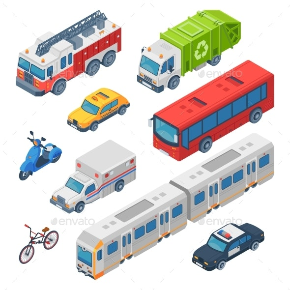 Isometric City Transport - Man-made Objects Objects