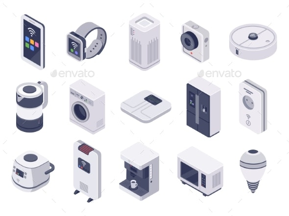 Isometric Internet of Things Devices - Computers Technology