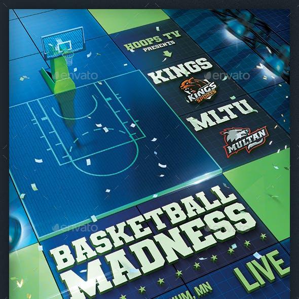 Basketball Madness Flyer College Match Template