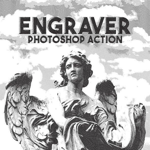 Engraver Photoshop Action