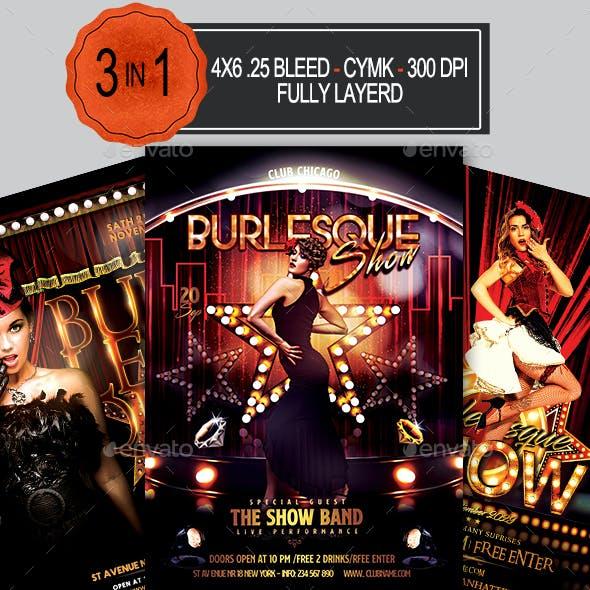 Burlesque and Cabaret Flyer Bundle