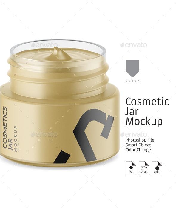 Cosmetic Matte Jar Mockup 4 - Packaging Product Mock-Ups
