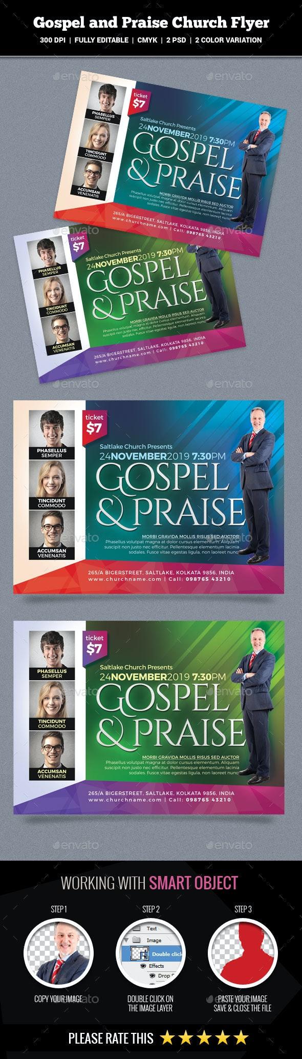 Gospel and Praise Church Flyer - Church Flyers