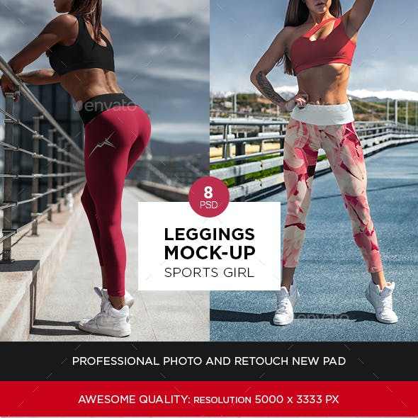 Leggings Mock-Up Sports Girl