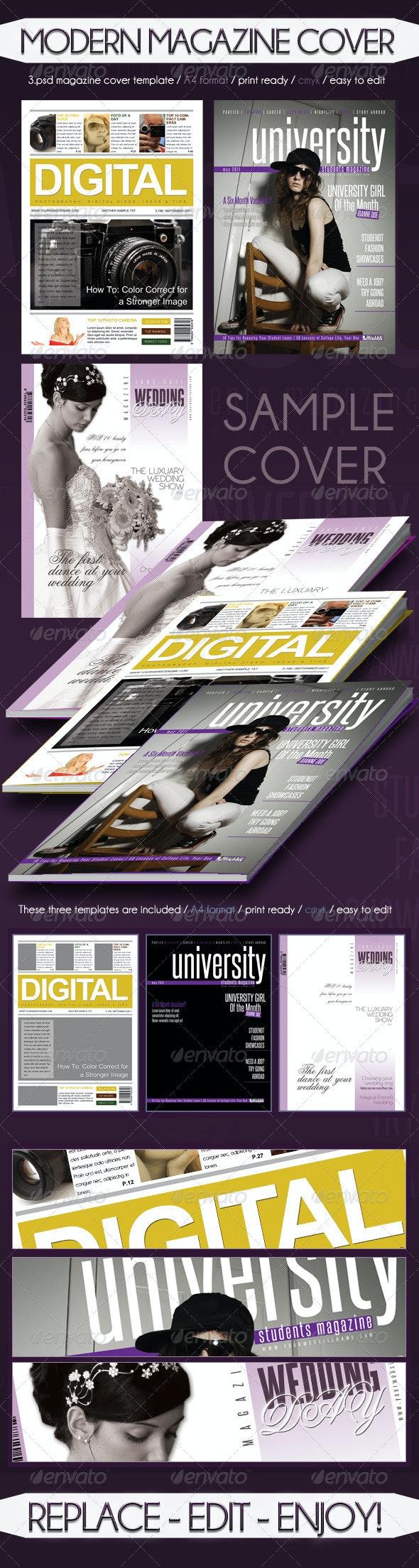 Modern Magazine Cover Template - Magazines Print Templates