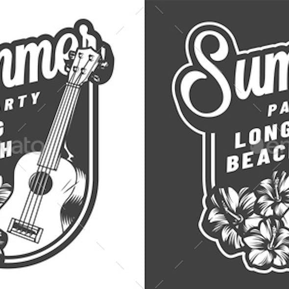 Vintage Hawaii Summer Badge