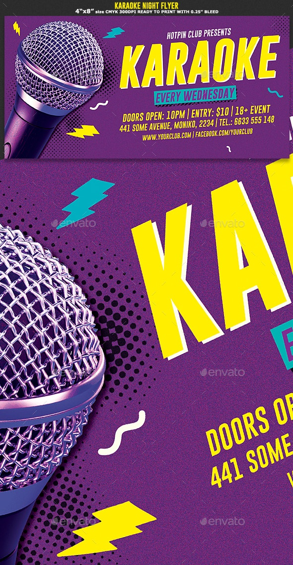 Karaoke Night Flyer Template - Events Flyers