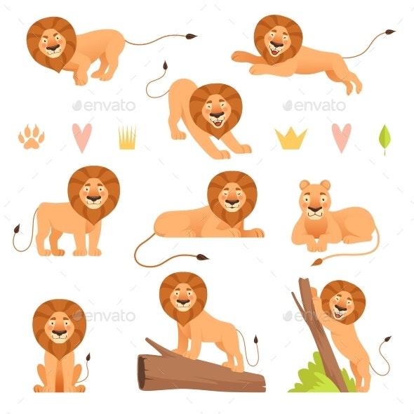 Lion Cartoon - Animals Characters