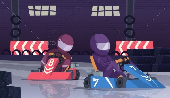 Karting Sport Competition - Sports/Activity Conceptual
