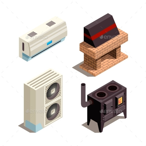 Air Conditioning Systems - Man-made Objects Objects