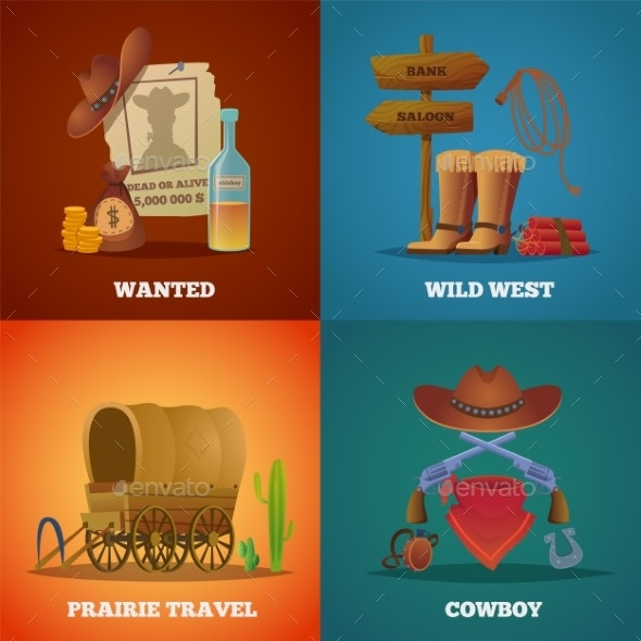 Wild West Collections - Backgrounds Decorative