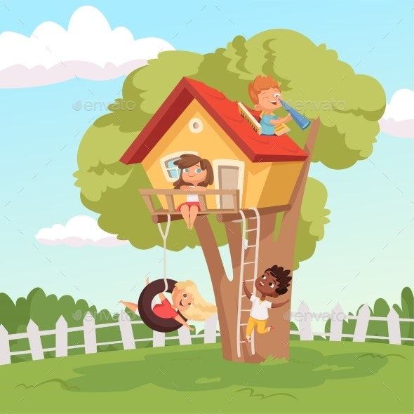 House in Tree - People Characters