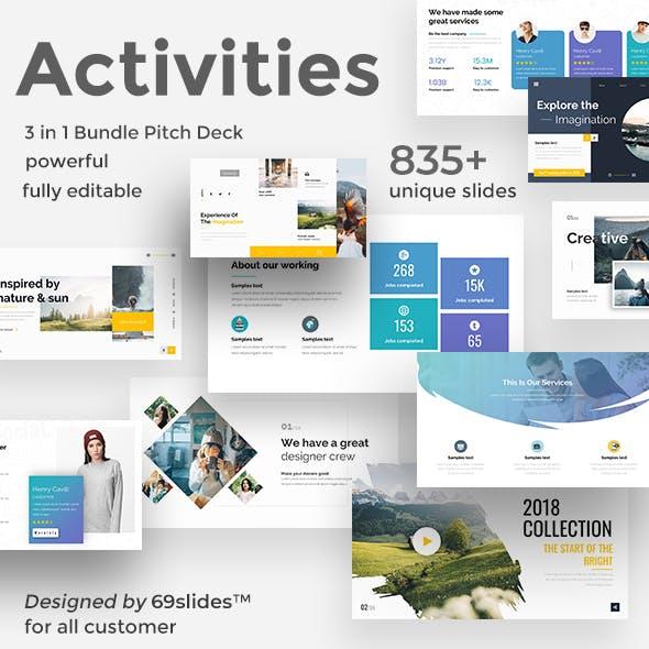 Key Activities 3 in 1 Pitch Deck Bundle Keynote Template