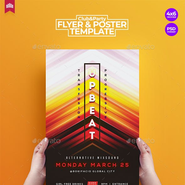 Upbeat Music - Flyer Template