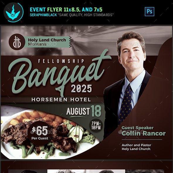 Fellowship Banquet Flyer Template