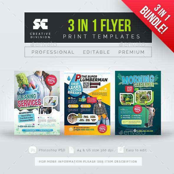 Multipurpose Services Flyer Bundle