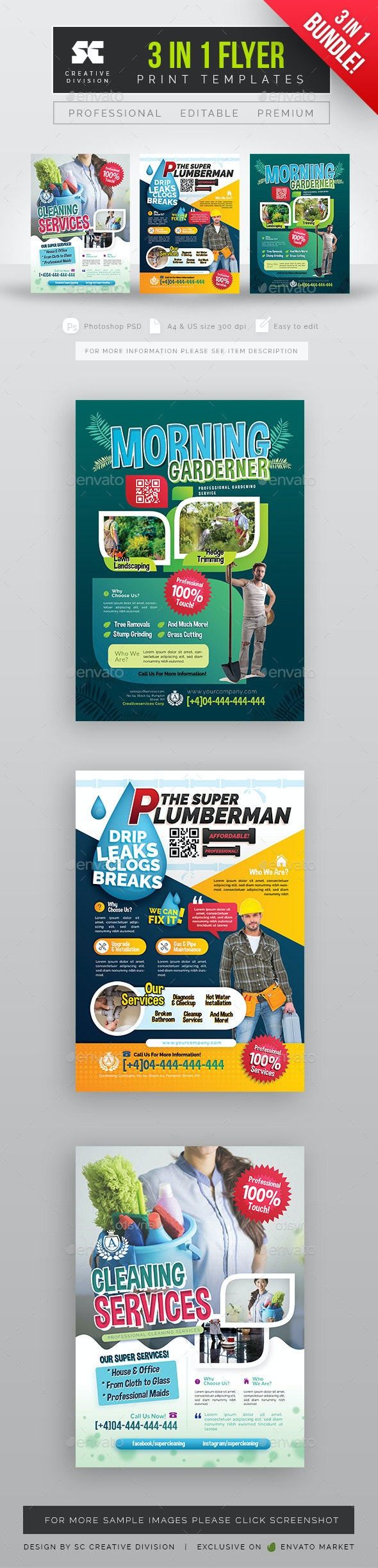 Multipurpose Services Flyer Bundle - Miscellaneous Events