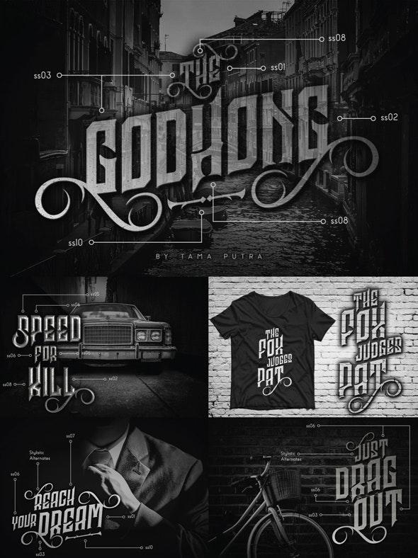 Godhong Decorative Serif Typeface - Decorative Fonts