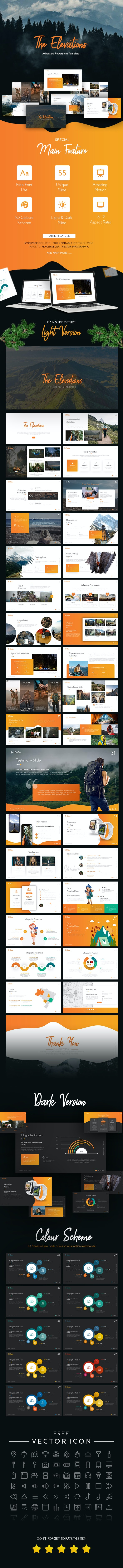 Elevations - Adventure PowerPoint Template - PowerPoint Templates Presentation Templates
