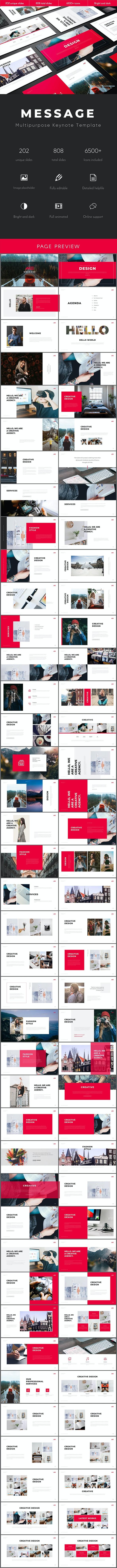 Message Multipurpose Keynote Template - Business Keynote Templates