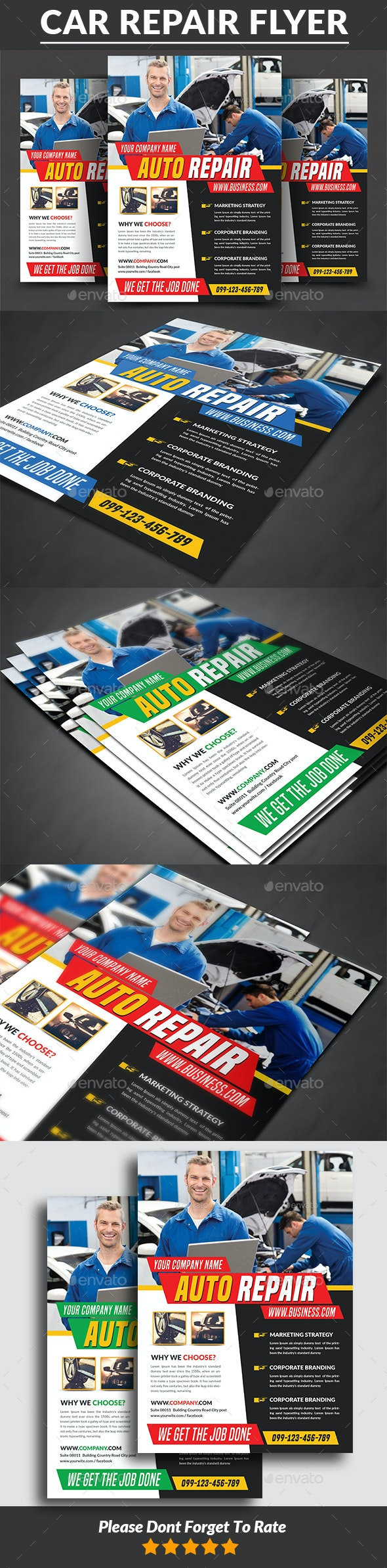 Car Repair Service Flyer - Corporate Flyers