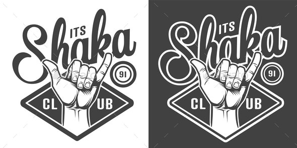 Vintage Surfing Emblem - Sports/Activity Conceptual