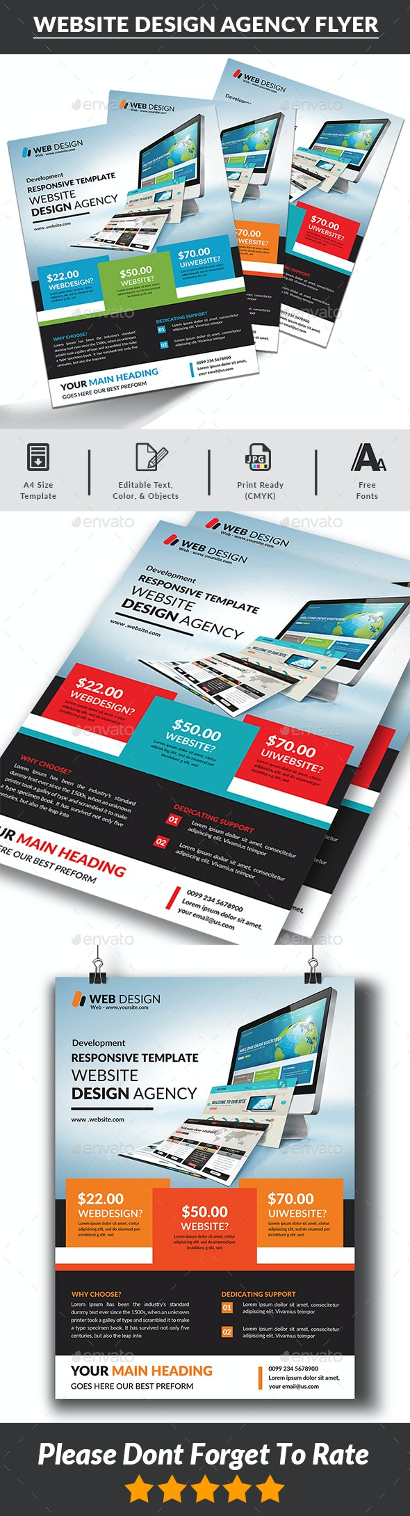 Website Design Agency Flyer Templates - Corporate Flyers