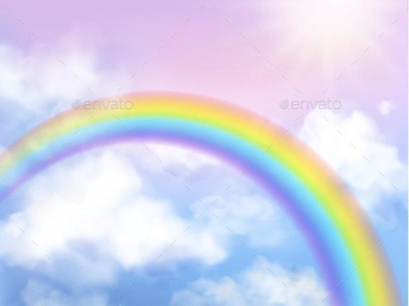 Rainbow Sky - Landscapes Nature