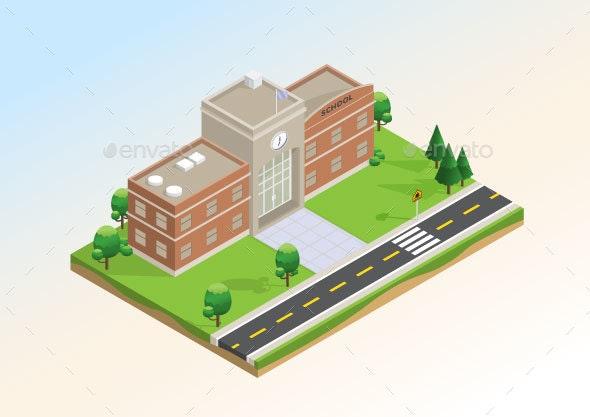 Isometric School - Buildings Objects