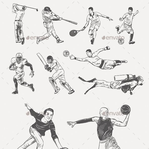 Players and Sportsmen Sketches